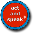 logo act & speak